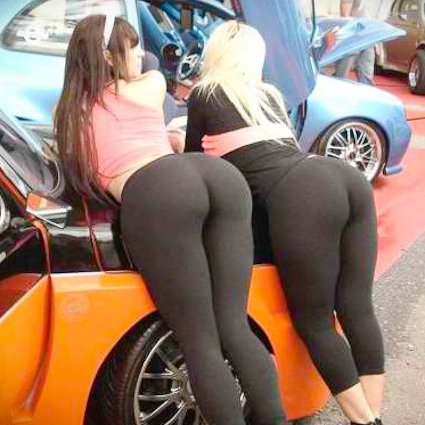 Yoga over pants bent girls