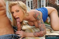 Cute tattooed blonde Brooke Banner