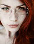 amateur photo Red hair, and glasses