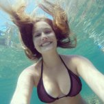 amateur photo Underwater selfie