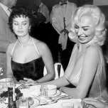 amateur photo Glaring the goods 1950s