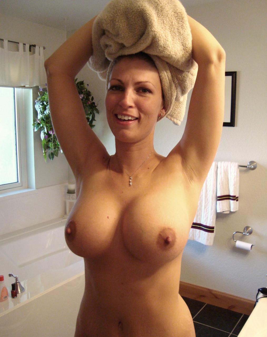 Busty Mom in the Bathroom Porn Photo