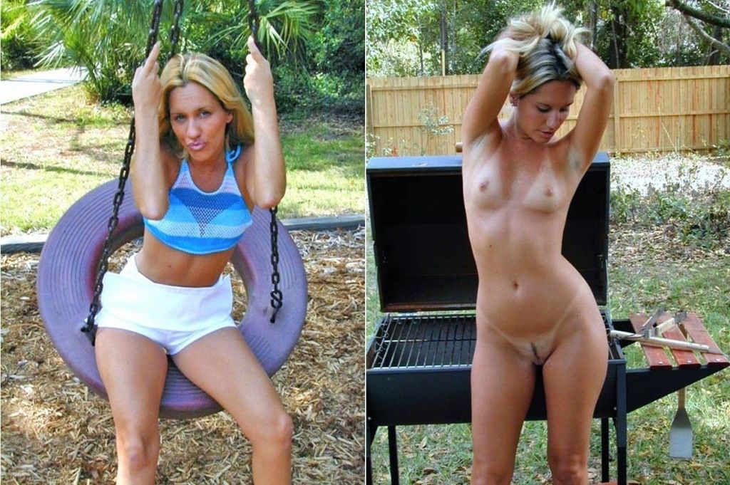 Milf in Her Backyard Porn Photo - EPORNER