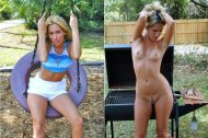 Milf in Her Backyard