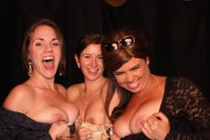 Flashing at the photo booth