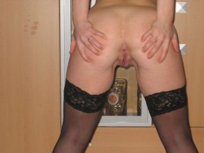 amateur photo Petite spreader