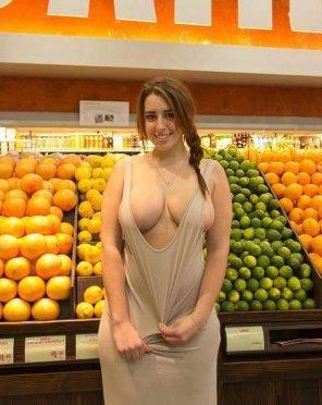 amateur photo In the melon aisle