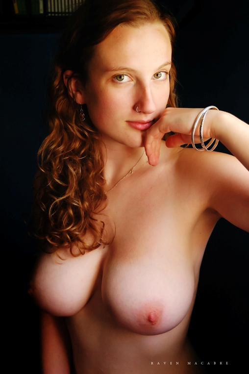 Red hair green eyes nude
