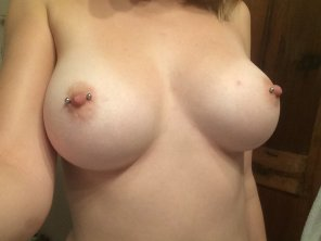 amateur photo Both pierced