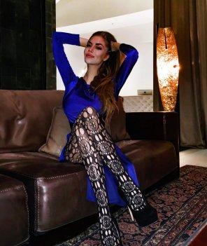 amateur photo Magdalina in lace tights