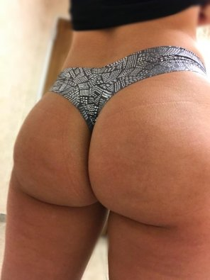 amateur photo [F] Thong of the day!!! Today I have on my shiny VS panty. Hope you have a great Friday!!!!
