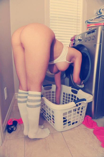 Doing the Laundry Porn Photo