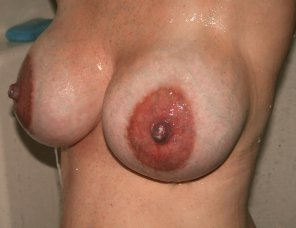 amateur photo My engorged breasts full of milk