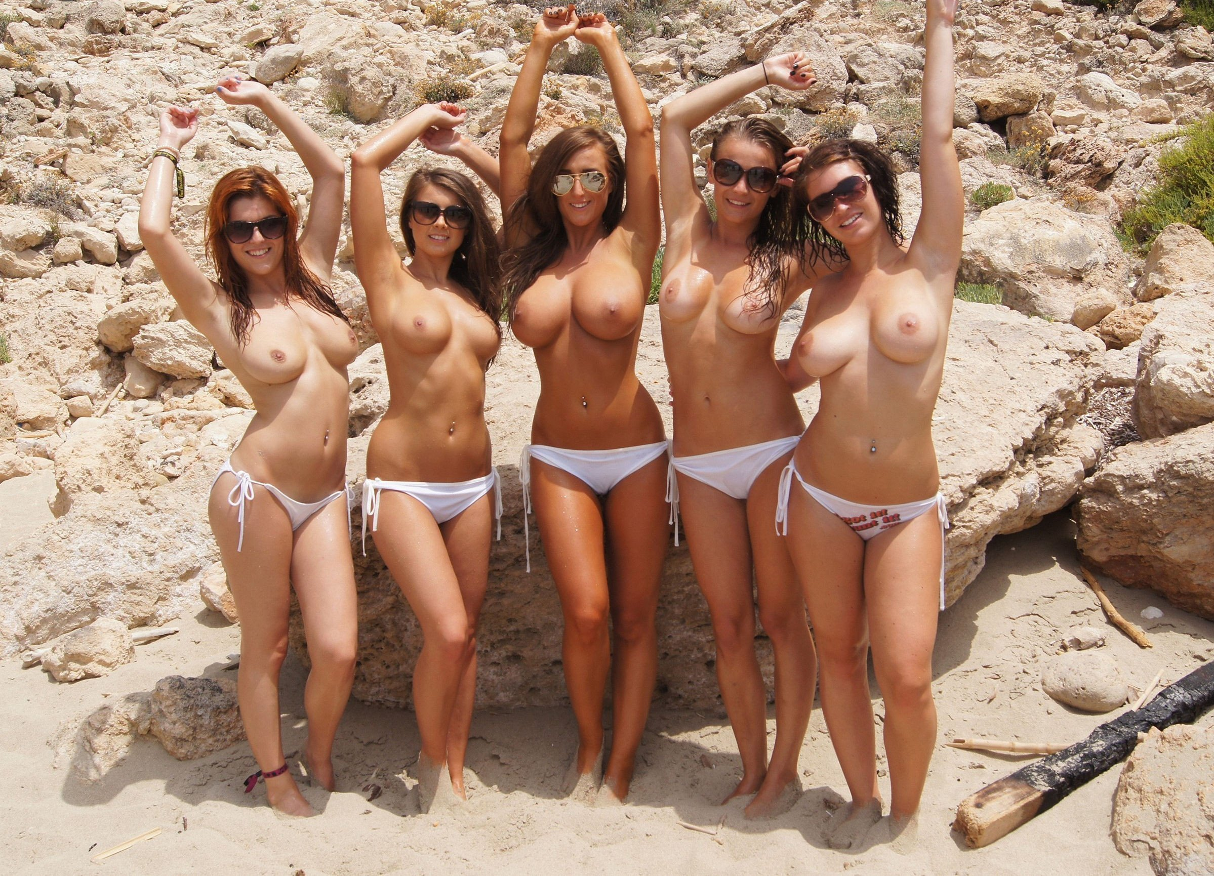 Beaches on topless women