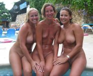 3 by the pool