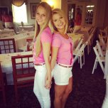 amateur photo Back to back blondes