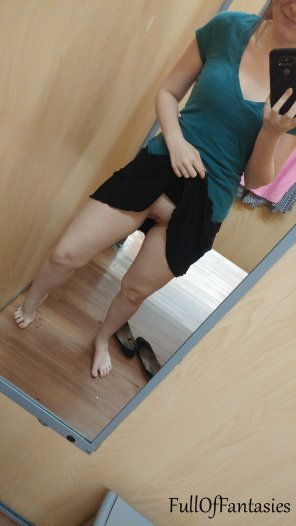 amateur photo [Bad Dragon] So I decided to dip into a dressing room and show off more [f]or you there instead ;)
