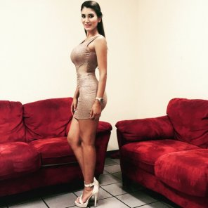 amateur photo Diana Alvarado - Daring outfit for Mexican weathergirl