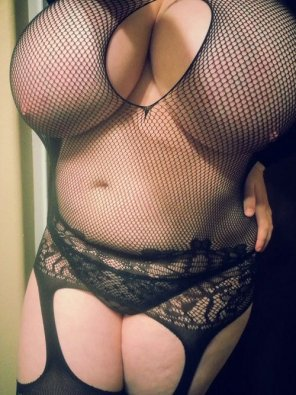 amateur photo In fishnets
