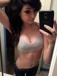 amateur photo In her soccer bra