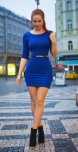 amateur photo Red head in the blue dress