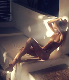 amateur photo Oiled Blonde