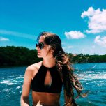 amateur photo Babe on the lake