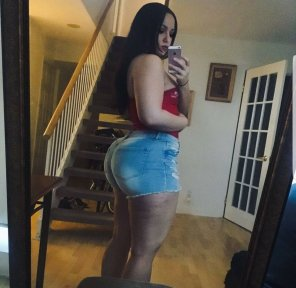 amateur photo Jean shorts