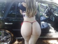 amateur photo White ass in thongs
