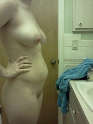 amateur photo In the bathroom