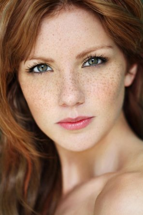 amateur photo Gorgeous with freckles