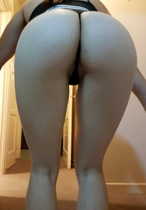 amateur photo Butt in thong again, different angle :)