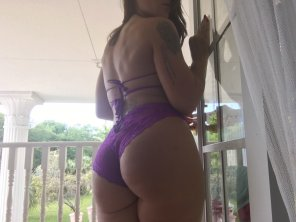 amateur photo Cheeky in purple