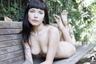 amateur photo Beauty on a bench