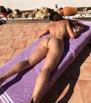 amateur photo Catching a tan