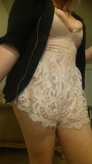 amateur photo Bursting out of this Romper