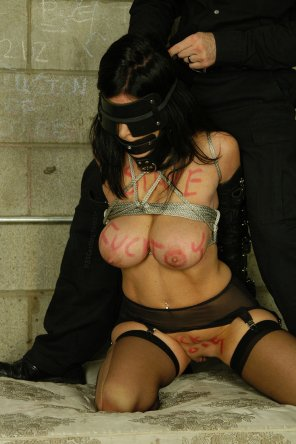 amateur photo bound and blindfolded