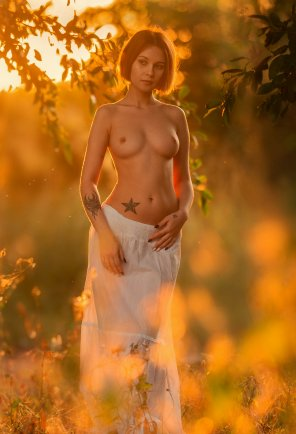 amateur photo White Dress in Nature