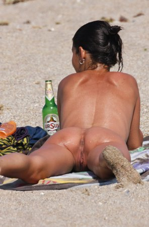 amateur photo Beach asshole