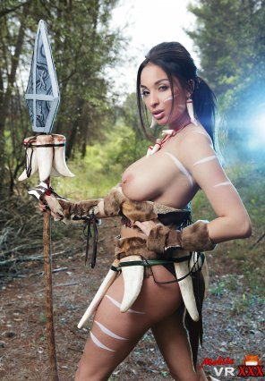 amateur photo Anissa Kate Looking Stunning as Nidallee from League of Legends