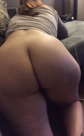 amateur photo Amatuer bent over the couch