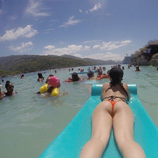 Floating Porn Photo
