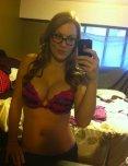 amateur photo Busty glasses