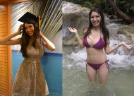 Gorgeous Hispanic girl, clothed/bikini