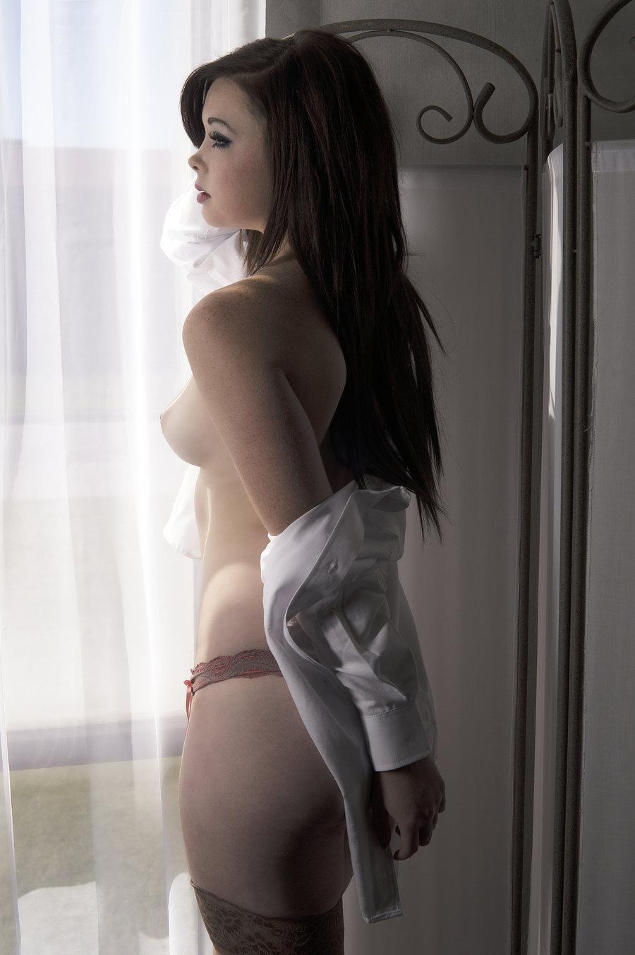 Pregnant anime girl with dildo