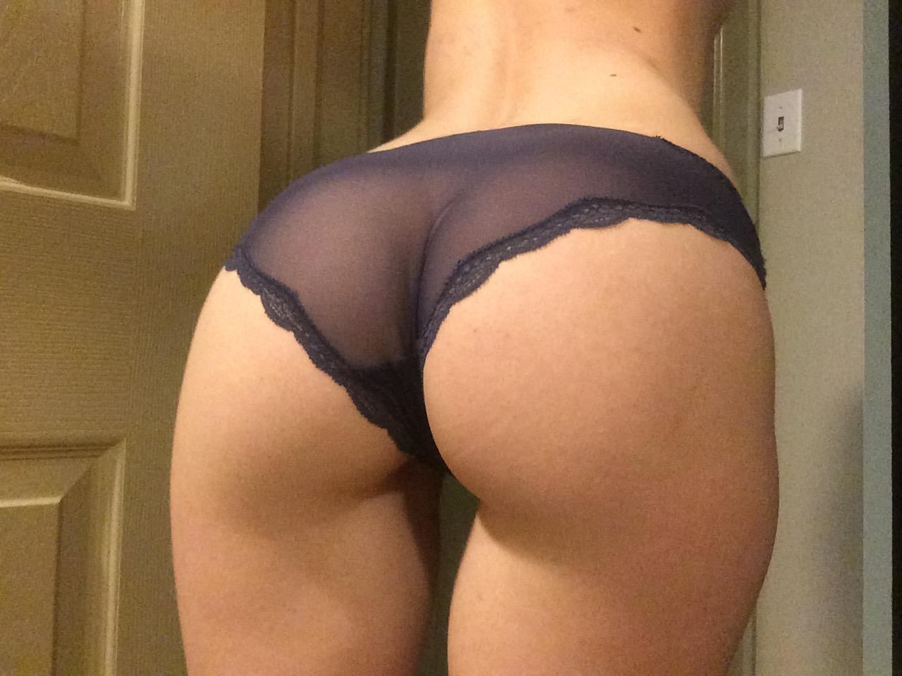 Ass In Sheer Panties Pic