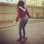 amateur photo Skater girl