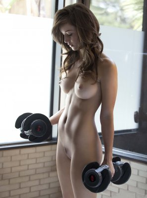 amateur photo Malena Morgan lifting... my enthusiasm