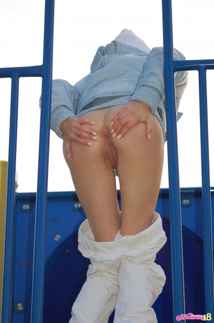 At the playground Porn Photo