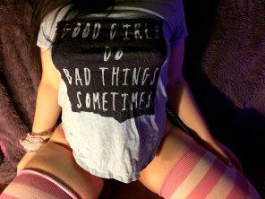 amateur photo This shirt makes me feel pretty cute :P
